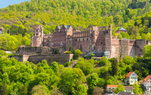 Close Up View Of The Ruin Of Heidelberg Castle, Germany