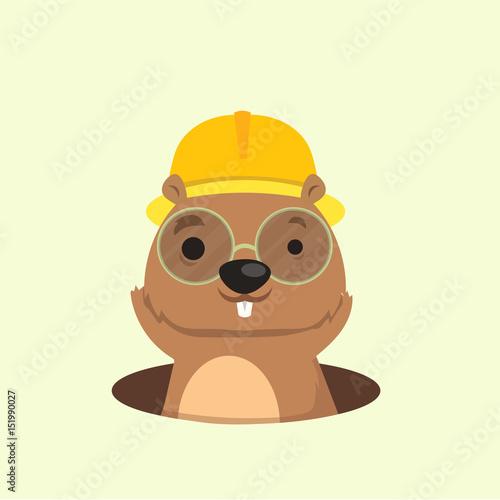Fotografie, Obraz  Cute happy smiling mole character.
