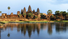 Angkor Wat Temple At Sunset, S...