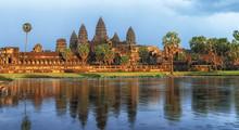 Golden Sunset At The Angkor Wat