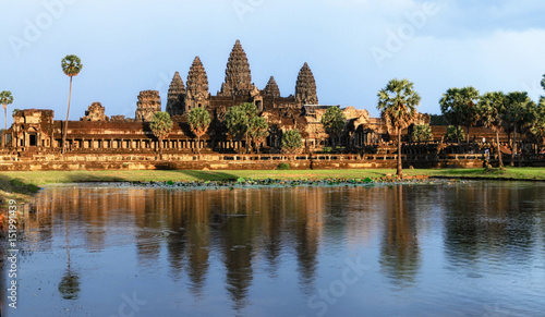 Angkor Wat Temple at sunset, Siem reap, Cambodia. Wallpaper Mural