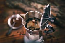 Coffee In A Moka Pot