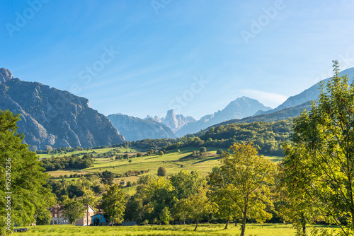 Valokuva  The foothills of the National Park Los Picos de Europa in the north of Spain