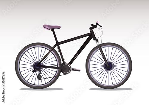 In de dag Fiets Vector illustration of realistic bike