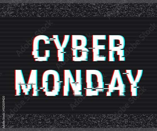 Photo Cyber Monday glitch text