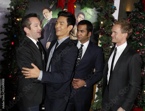 actors tom lennon john cho kal penn and neil patrick harris at the premiere - A Very Harold Kumar 3d Christmas Cast