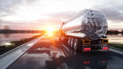 Gasoline tanker, Oil traile...