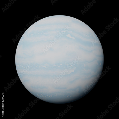 Plakat  planet Uranus isolated on black background