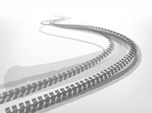 Automotive Tire Tracks