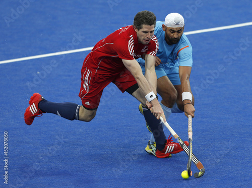 Britain S Simon Mantell Challenges India S Sandeep Singh During The