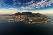 canvas print picture - Table Mountain aerial view