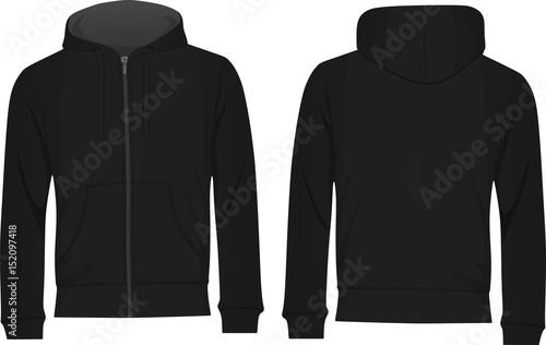 Men hoodie template vector