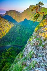 Fototapeta Krajobraz Pieniny-świt na Sokolicy