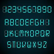 Digital Font, Alarm Clock Lett...