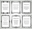 Retro classic borders and calligraphic old wedding photo frames vector collection