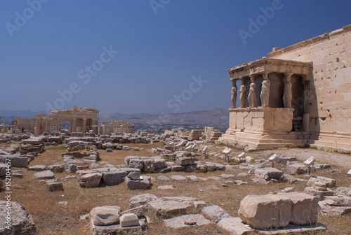 Poster Ruine The temple with the Caryatids in Athens