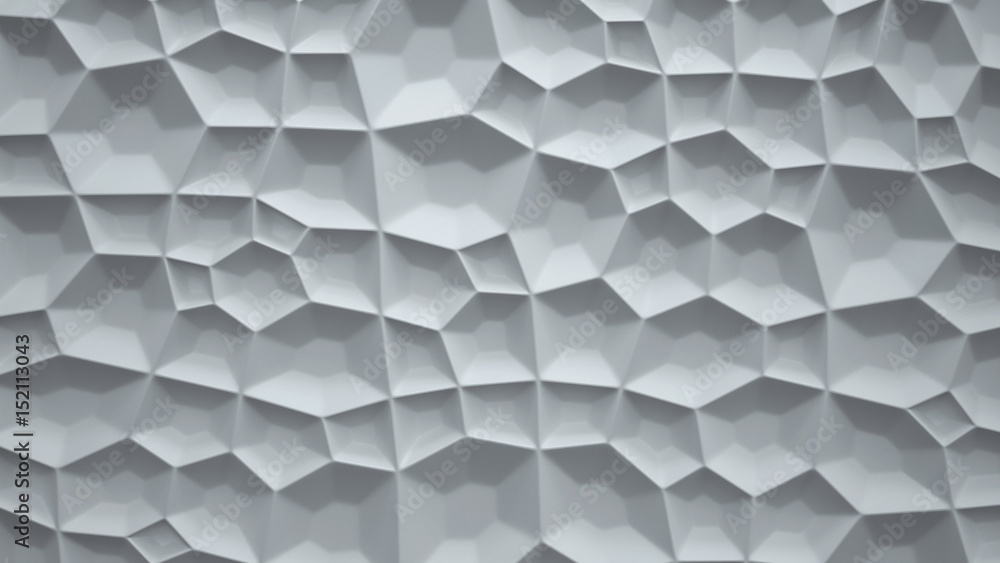 Abstract 3d white geometric background. Simple clean white background texture. 3D rendering