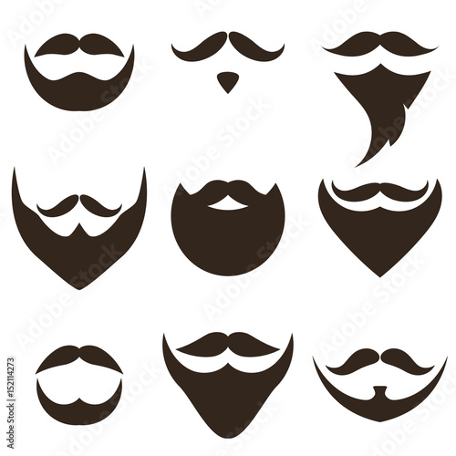 Beards and Mustaches set Wallpaper Mural
