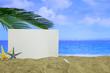 Summer sandy beach - blank paper sheet