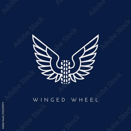 Winged wheel Canvas Print