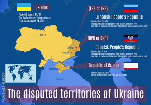 Photo The disputed territories of Ukraine.