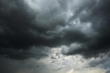 Dark Sky And Black Clouds Befo...