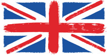 United Kingdom Flag Vector Hand Painted With Rounded Brush