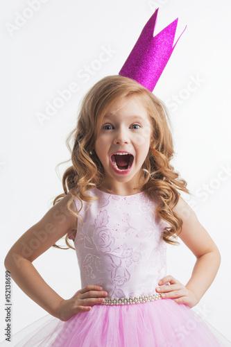 Little princess girl in crown