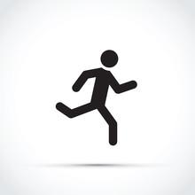 Stick Man Running