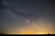 beautiful night scene, milky way on a starry sky
