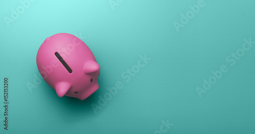 Fotografia Piggy bank with copy space