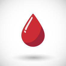 Blood Drop Flat Vector Icon