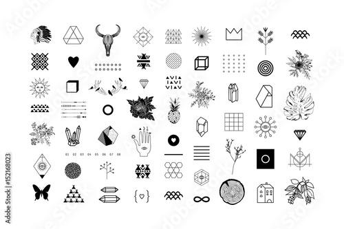 Fotografie, Obraz  Set of different elements and shapes