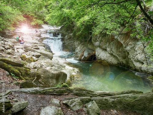 Foto op Plexiglas Japan Waterfalls called Cube at Irati Forest in Navarre Spain