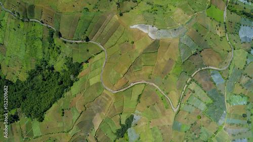 Farmland hill with terraced system