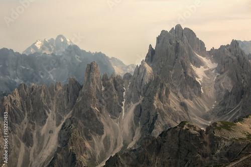Foto op Plexiglas Grijs Dolomites mountain landscape