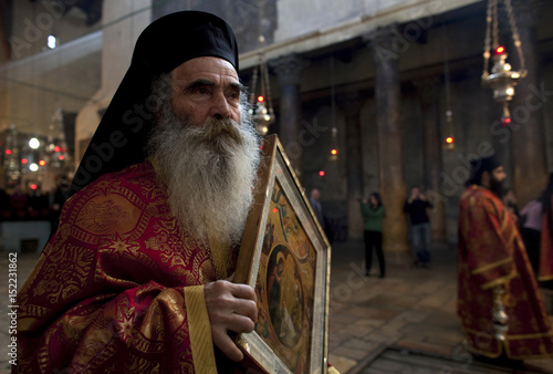 Eastern Orthodox Christmas.A Member Of The Clergy Takes Part In The Eastern Orthodox