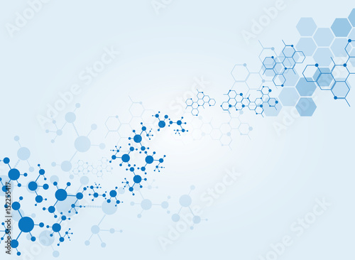 Carta da parati  Abstract molecules medical background