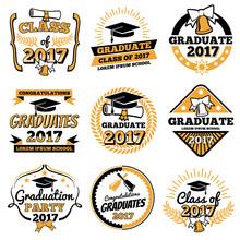 Vintage Student Graduate Vecto...