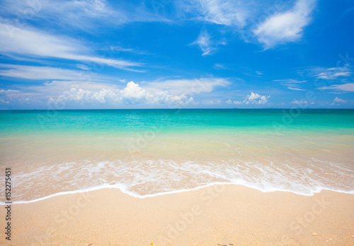 Deurstickers Strand beach and tropical sea