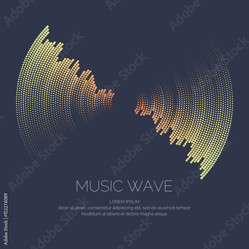Fotomural Vector poster of the sound wave.
