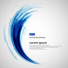 Abstract Blue Lines Curve Circle Swirl Technology Vector Illustration Element