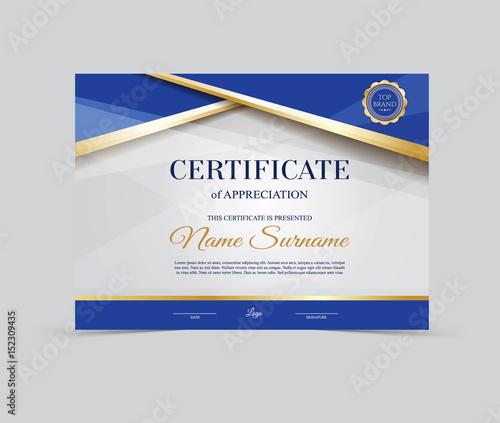 Fotografía  Vector Template Certificate of Appreciation