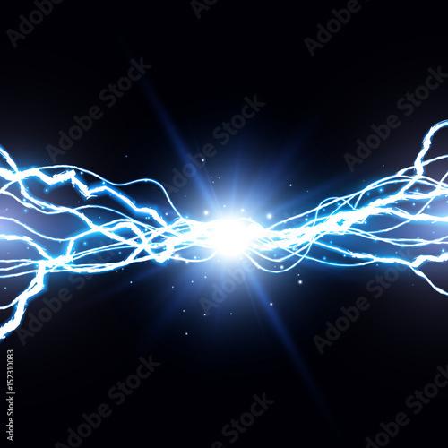 Valokuva  Electric lightning bolt. Energy effect illustration