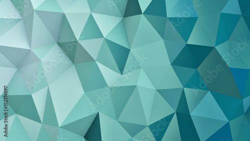 Photo  Low poly geometric cyan surface 3D render