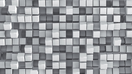 Fototapeta White cubes 3D render background