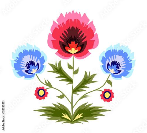 kwiaty-ludowy-wzor-folk-cut-out-art