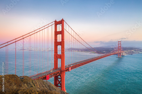 Canvas Prints San Francisco Golden Gate Bridge at sunset, San Francisco, California, USA