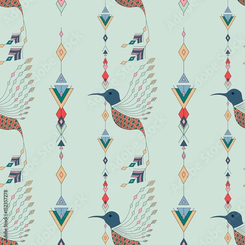 egzotyczne-ptaki-azteckie-wzor-geometryczny-abstrakcyjny-styl-plemienny-ilustracji-wektorowych