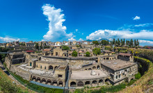 Panoramic View Of Herculaneum Ancient Roman Ruins